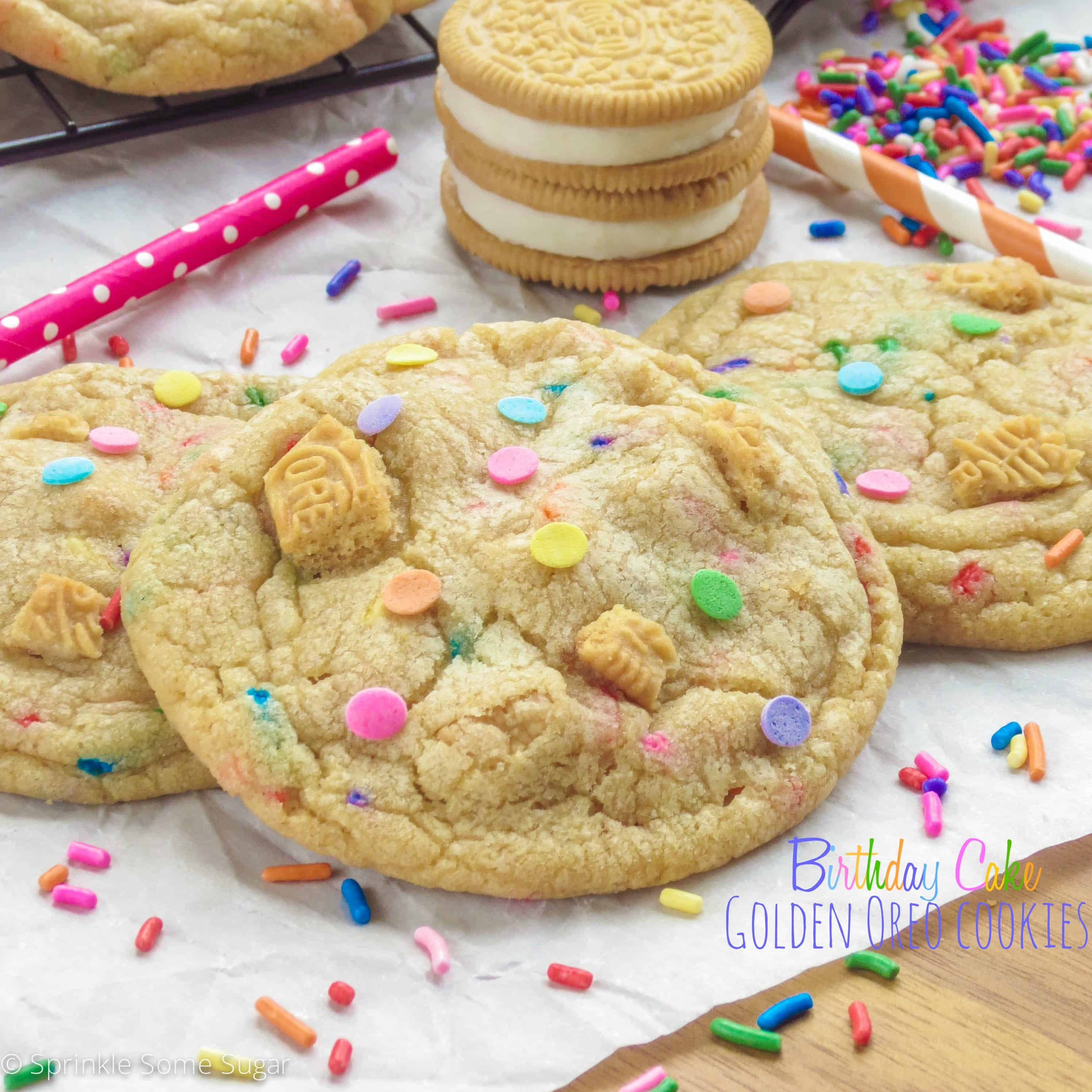 Excellent Birthday Cake Golden Oreo Cookies Sprinkle Some Sugar Funny Birthday Cards Online Overcheapnameinfo