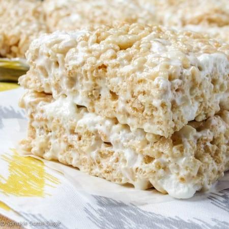 Perfect Rice Krispie Treats - Sprinkle Some Sugar