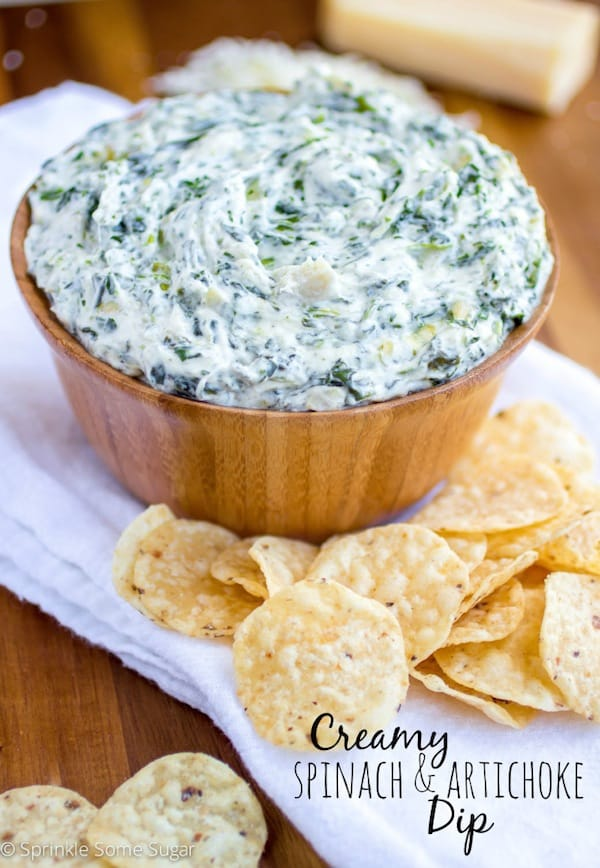 Creamy Spinach and Artichoke Dip - Sprinkle Some Sugar