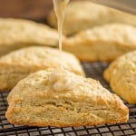 Fresh Orange Scones - These perfectly tender scones have such a bright citrus flavor and are topped off with a sweet + tangy orange glaze.