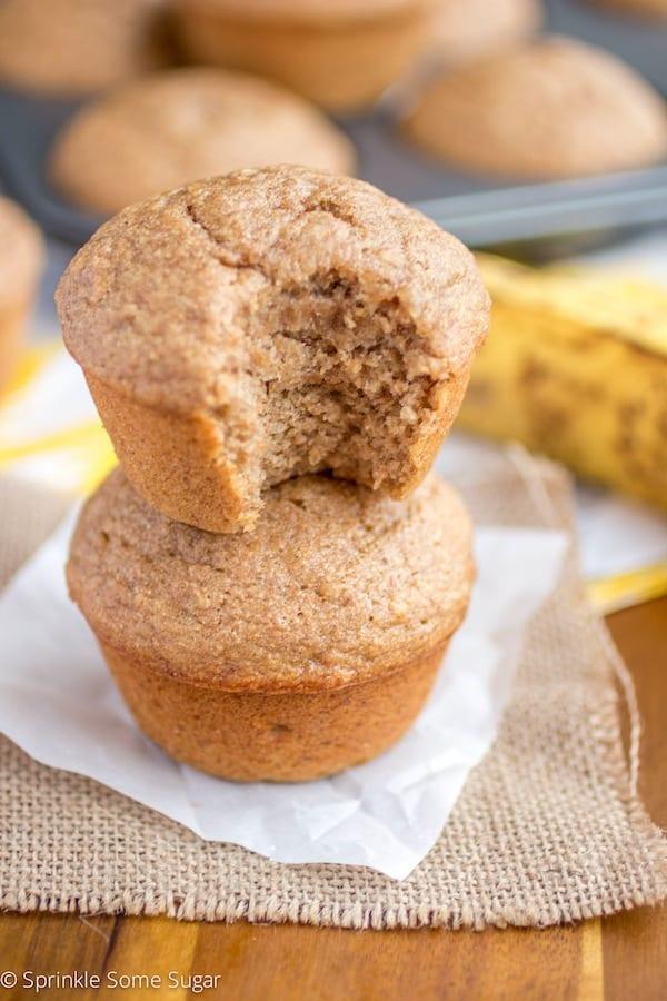 Lightened-Up Banana Muffins - Sprinkle Some Sugar