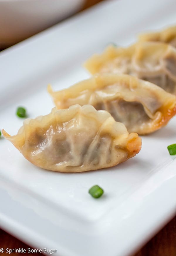 Homemade Pork Potstickers - Sprinkle Some Sugar