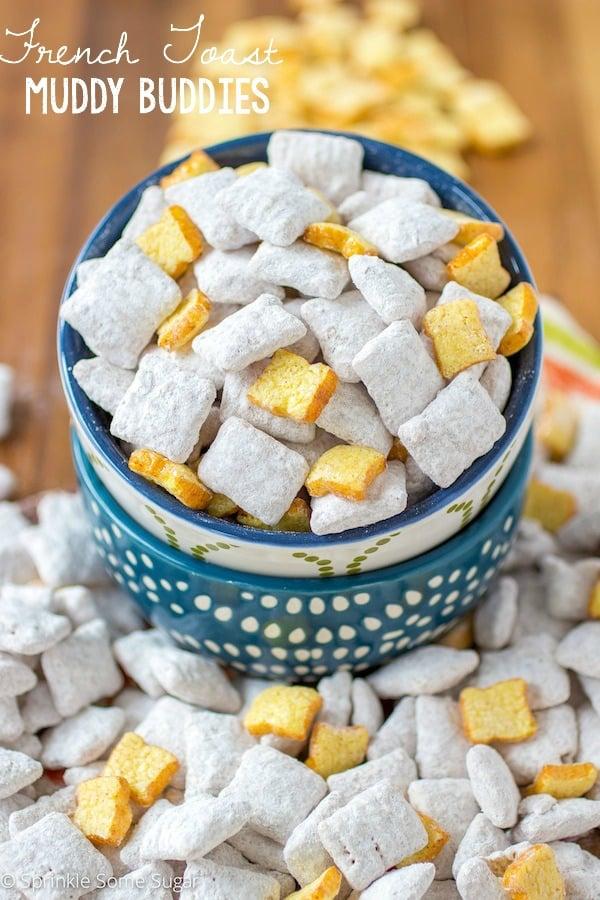 French Toast Muddy Buddies - Sprinkle Some Sugar
