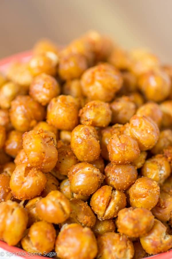 Spicy Roasted Chickpeas - Sprinkle Some Sugar