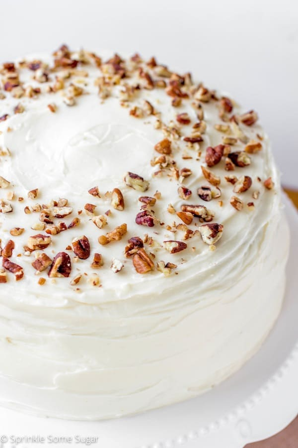 My Favorite Homemade Carrot Cake - Sprinkle Some Sugar