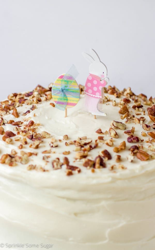 My Favorite Homemade Carrot Cake - Sprinkle Some Sugar