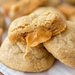 Caramel Stuffed Peanut Butter Cookies