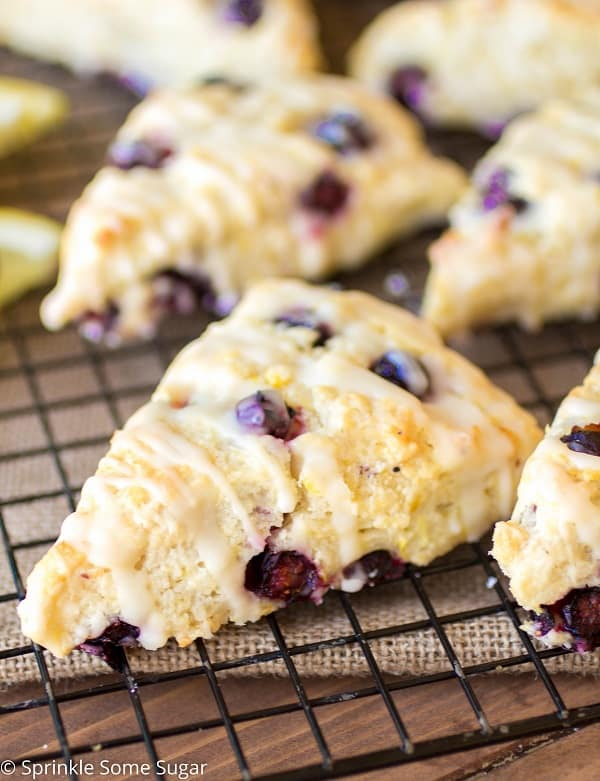 Lemon Blueberry Scones - Sprinkle Some Sugar