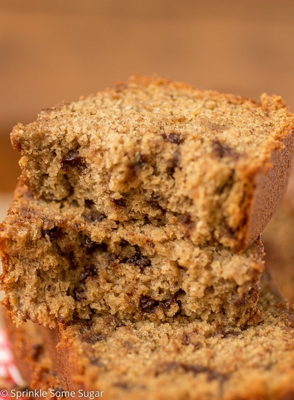 Chocolate Chip Banana Bread - Sprinkle Some Sugar