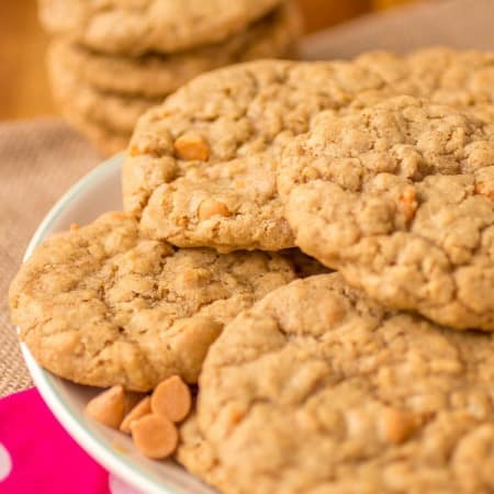 Butterscotch Oatmeal Cookies - Sprinkle Some Sugar