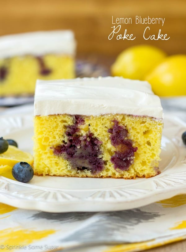 Lemon Blueberry Poke Cake Sprinkle Some Sugar