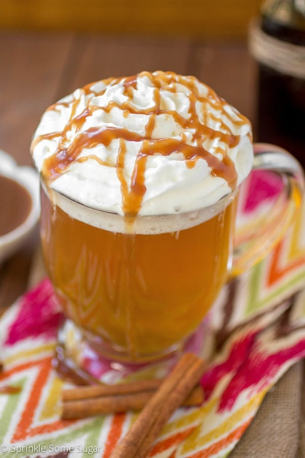 Easy Caramel Apple Cider - Sprinkle Some Sugar