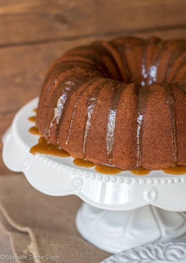 Banana Bundt Cake With Maple Brown Sugar Glaze - Sprinkle Some Sugar