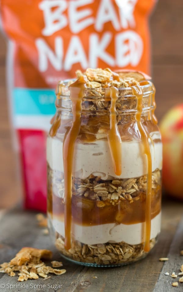 Caramel Apple No-Bake Cheesecake Trifles - Sprinkle Some Sugar
