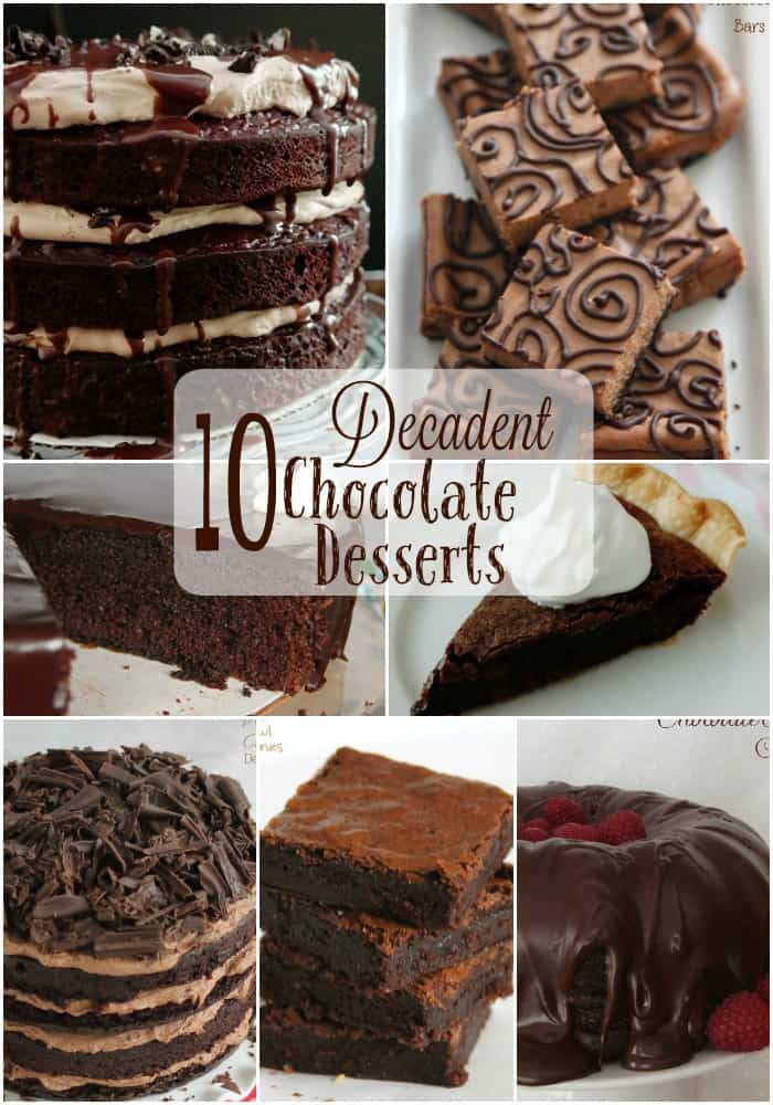 10 Decadent Chocolate Desserts