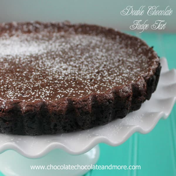 Double Chocolate Fudge Tart - Chocolate Chocolate and More
