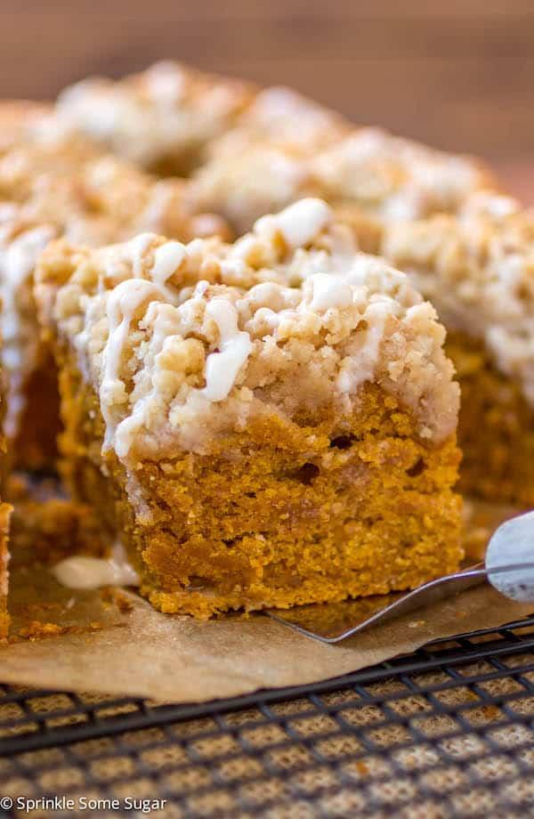 Pumpkin Coffee Cake - Sprinkle Some Sugar