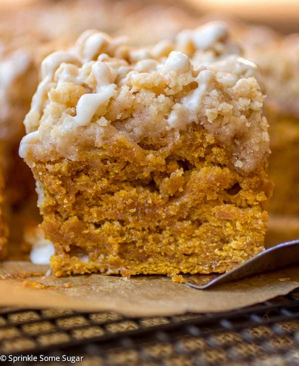Pumpkin Coffee Cake - Sprinkle Some Sugar