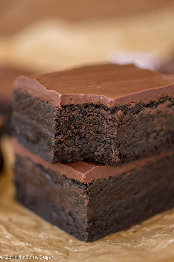 Triple Dark Chocolate Truffle Brownies - Sprinkle Some Sugar