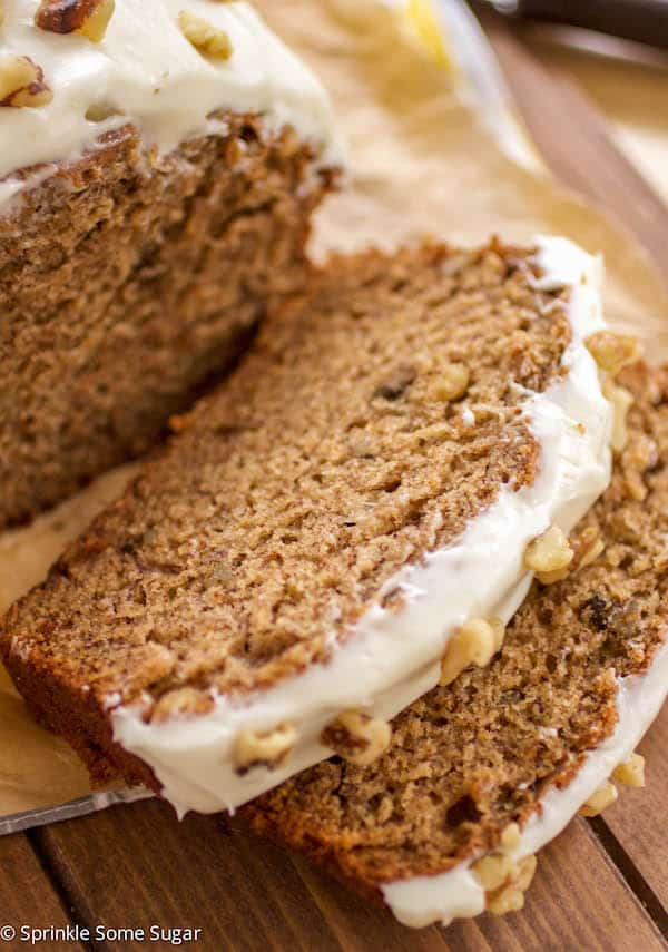 Banana Walnut Bread - Sprinkle Some Sugar