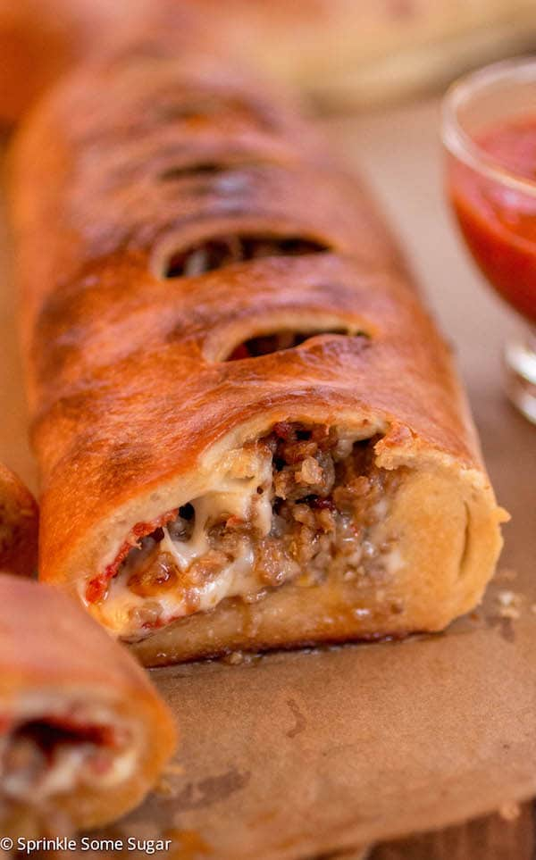Italian Sausage and Provolone Stromboli - Sprinkle Some Sugar