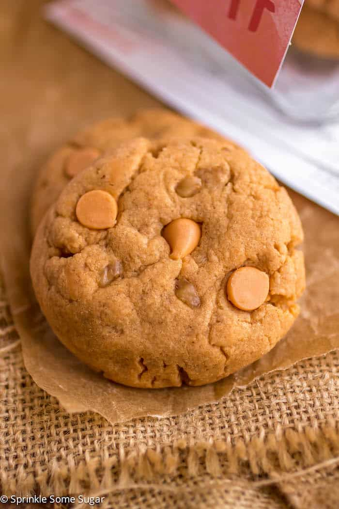 Butterscotch Toffee Pudding Cookies - Sprinkle Some Sugar