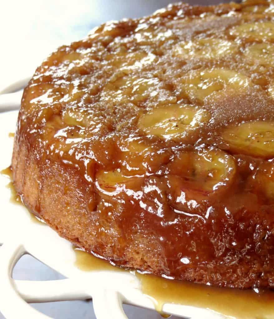 Banana Upside Down Cake - Sprinkle Some Sugar