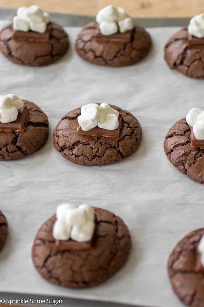 Hot Cocoa Cookies - Sprinkle Some Sugar
