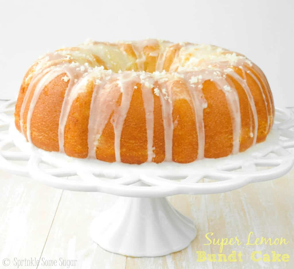 Super Lemon Bundt Cake - Sprinkle Some Sugar