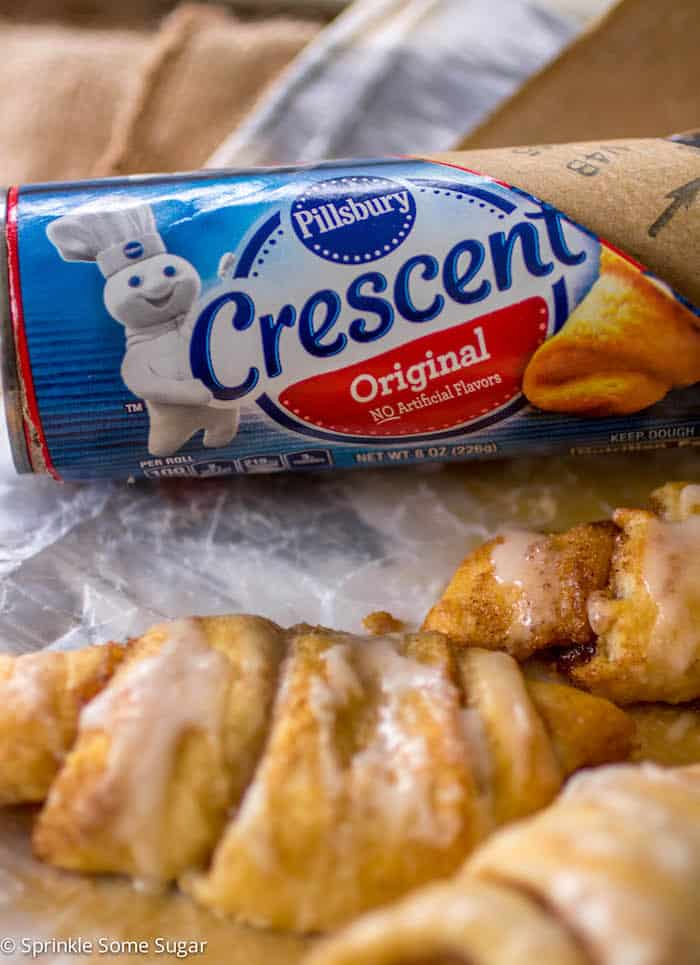 Cinnamon Roll Crescents - Sprinkle Some Sugar