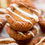 Caramel White Chocolate Gingerbread Cookie Cups