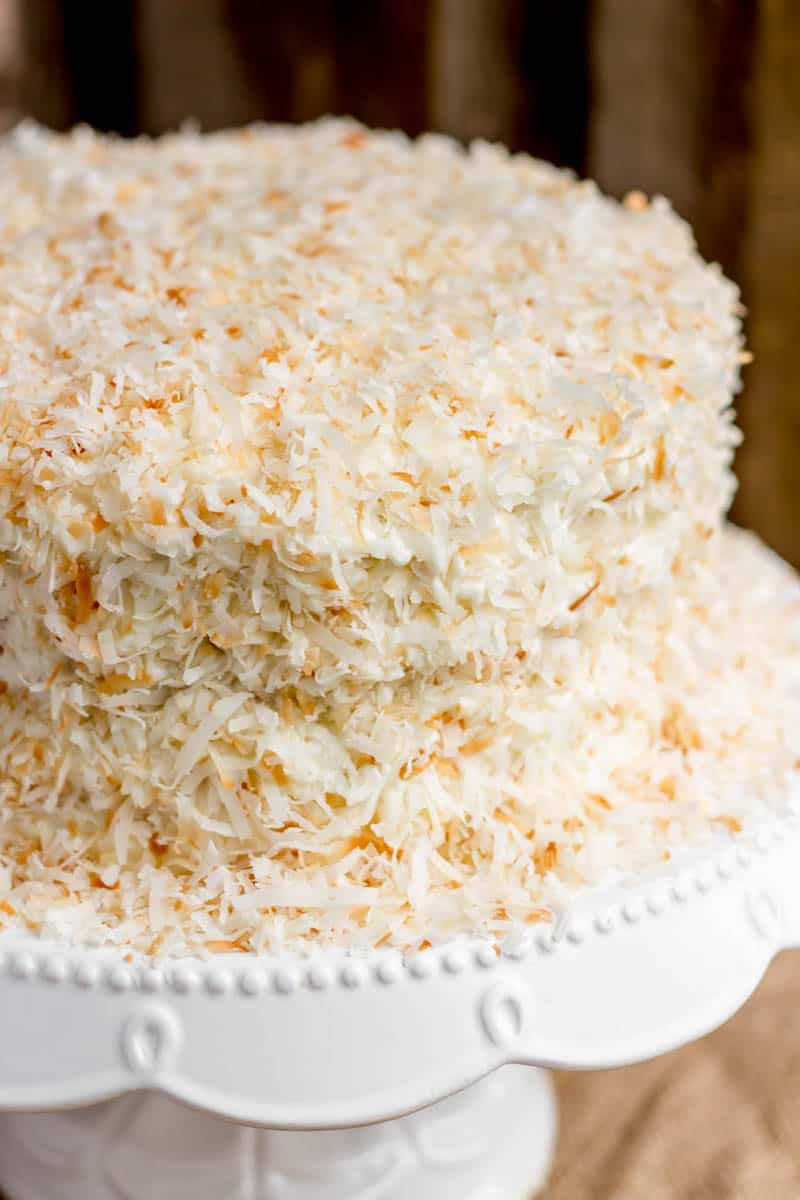 Coconut Lemon Layer Cake - Sprinkle Some Sugar