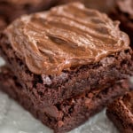 Chewy Brownies with Chocolate Fudge Frosting