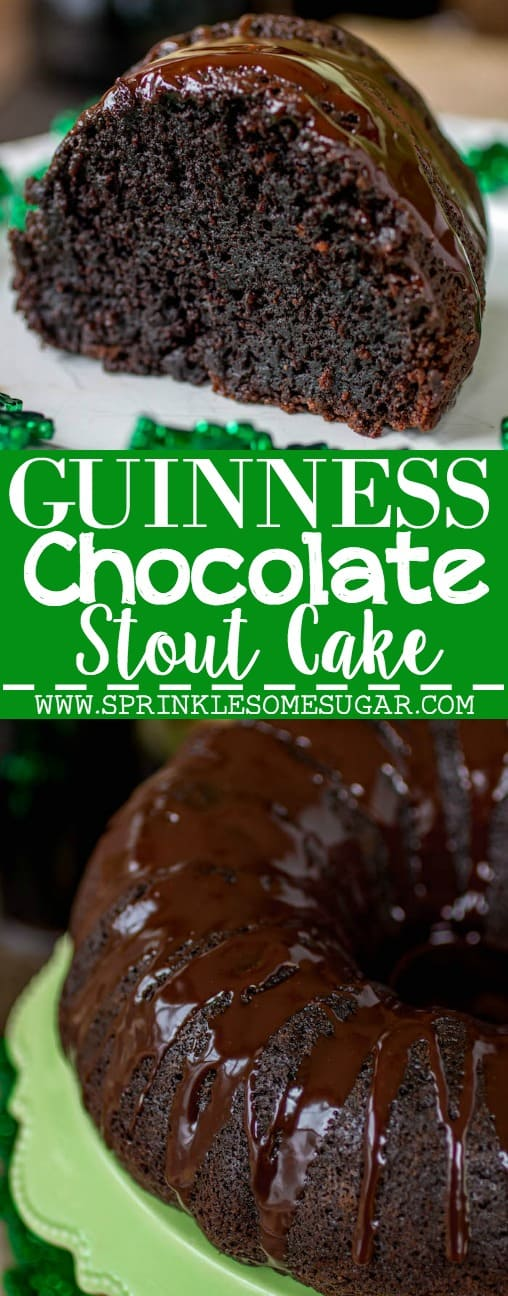 Guinness Chocolate Stout Cake - Sprinkle Some Sugar