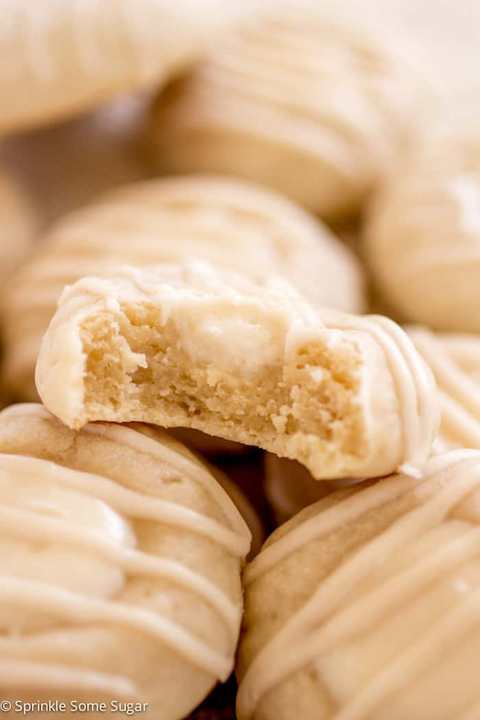 Cheese Danish Cookies - These soft and chewy cream cheese cookies are filled with a creamy cheese danish filling and topped with a sweet vanilla glaze!