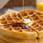 Buttery Golden Buttermilk Waffles - My favorite staple recipe for golden, buttery waffles that are perfectly crispy on the outside and fluffy on the inside.