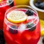 Homemade Blackberry Lemonade