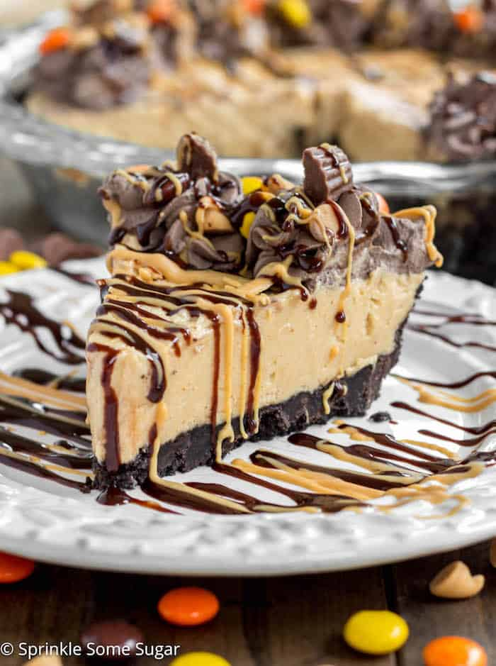 Peanut Butter Pie - Super creamy, easy and delicious peanut butter pie ...