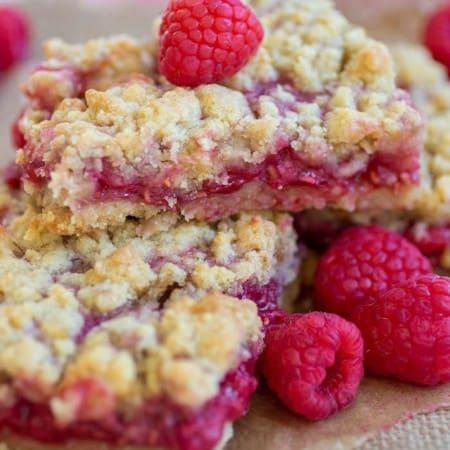 Lemon Raspberry Crumb Bars - Sweet and tart raspberry lemon crumble bars are the perfect Summer treat!