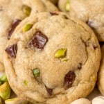 Pistachio Dark Chocolate Chunk Cookies