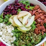 Fall Harvest Cranberry Kale Salad