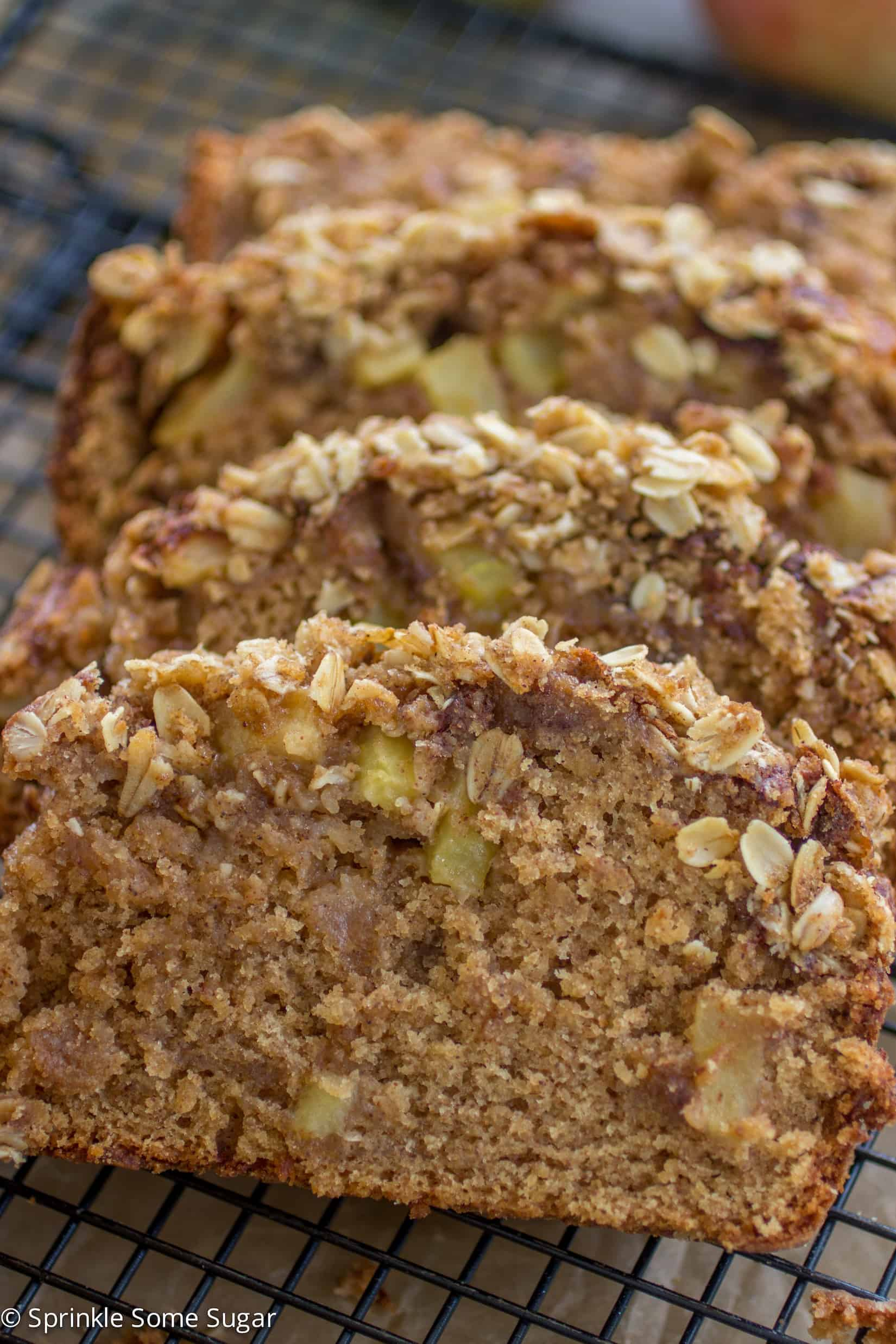 Apple Cinnamon Streusel Bread - The softest bread filled with warm spices, tender apples and topped with a sweet streusel topping.