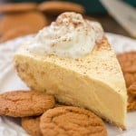 Spiced Eggnog No-Bake Pie with Gingersnap Crust