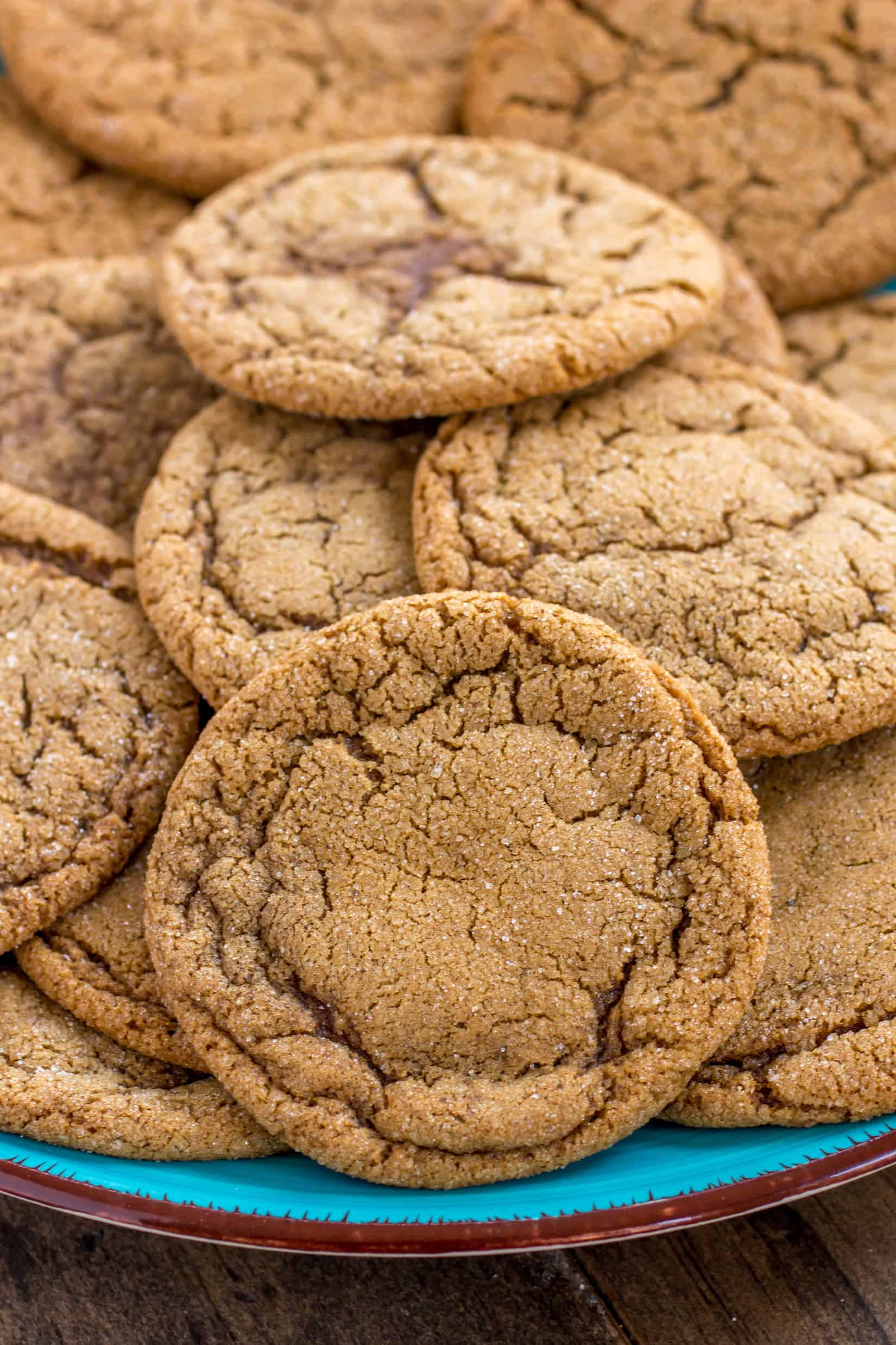 Chewy and soft spicy molasses cookies are the perfect cozy cookie for Fall!