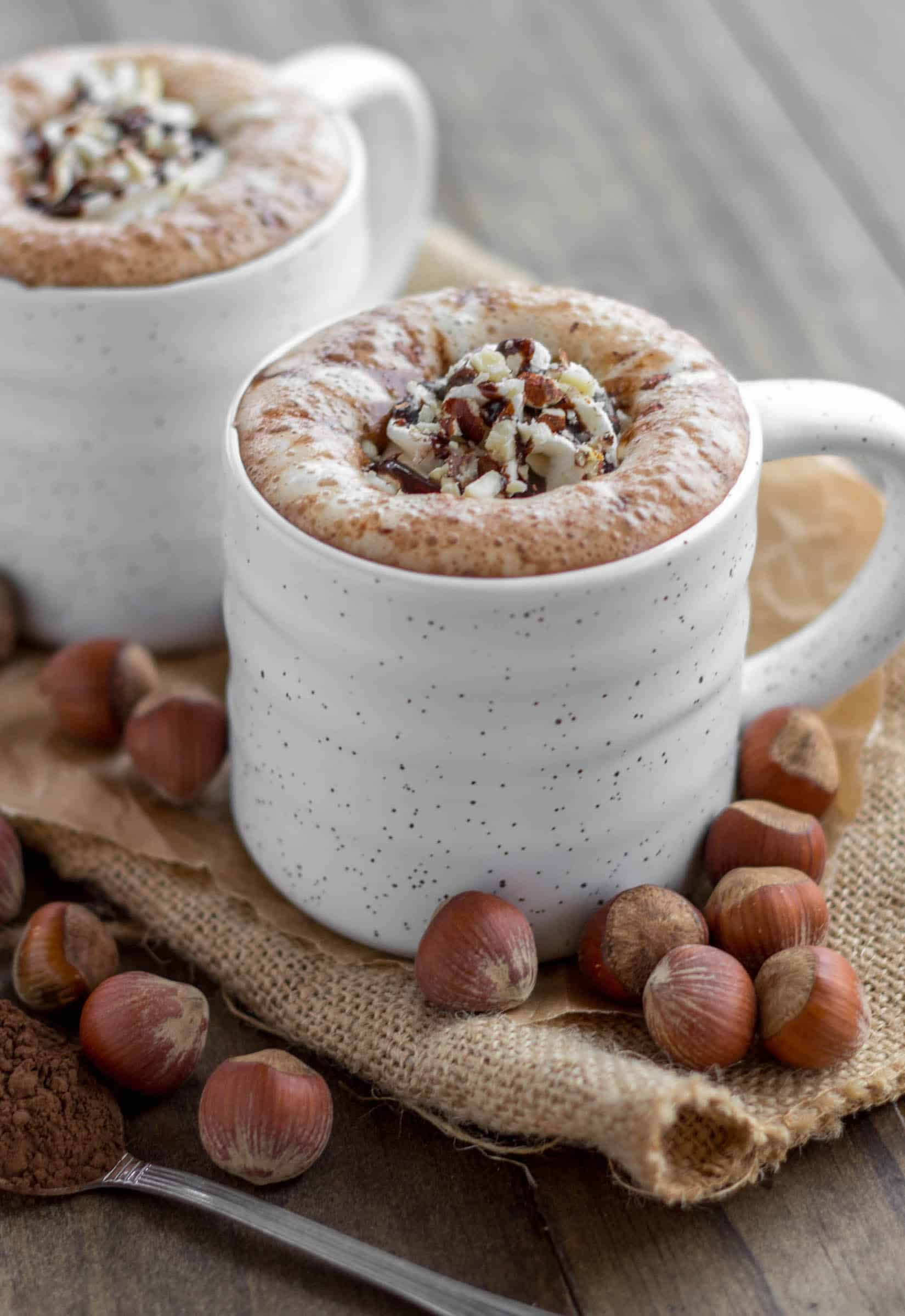 Creamy and delicious hazelnut mocha lattes made easy at home. - Hazelnut Mocha Cafe Latte