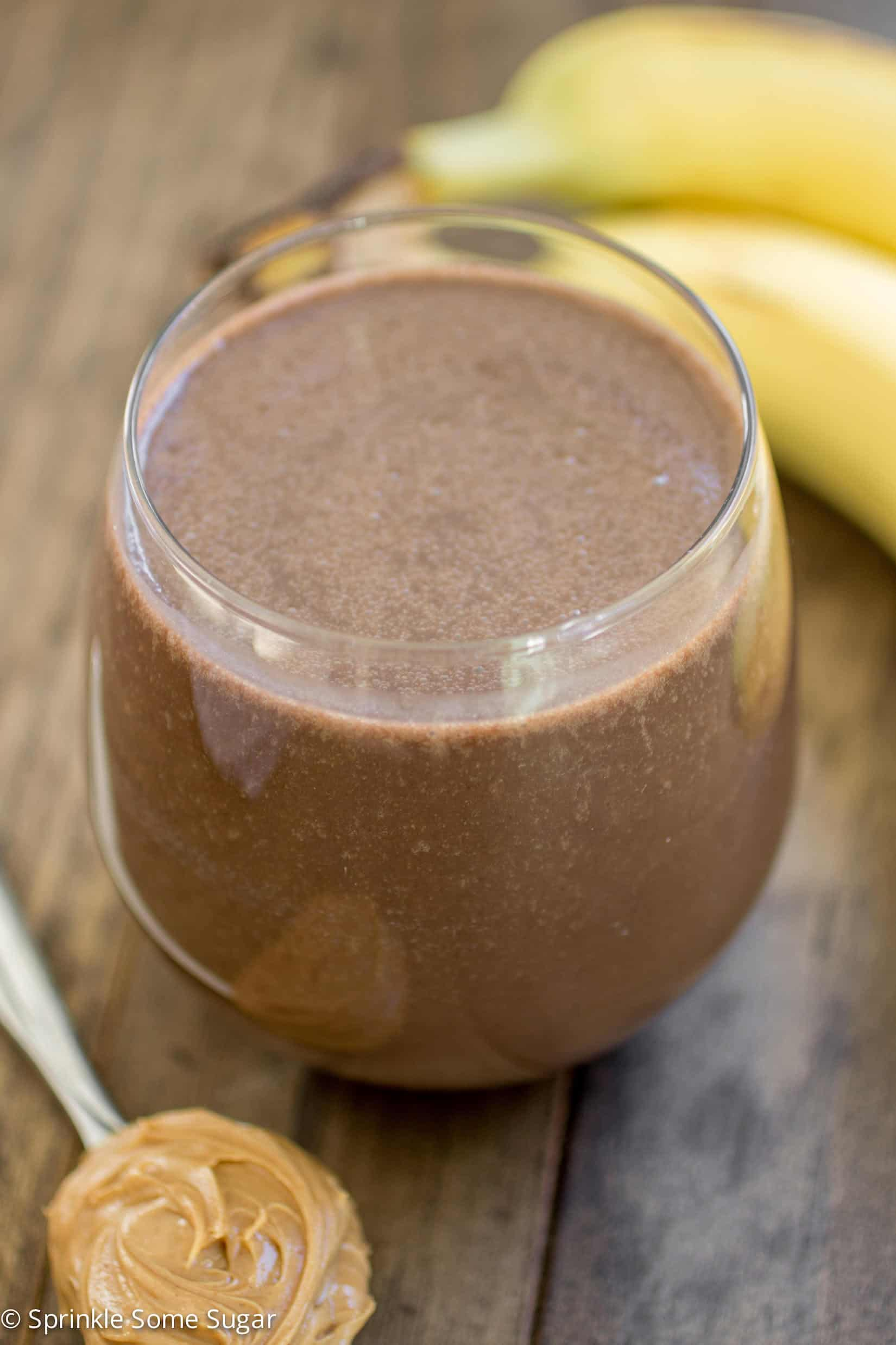 This mocha banana smoothie is the perfect way to kick off your morning. - Mocha Banana Smoothie