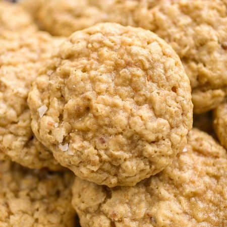 Toasted Coconut Oatmeal Cookies - Soft and chewy oatmeal cookies with the addition of sweet, toasted coconut.