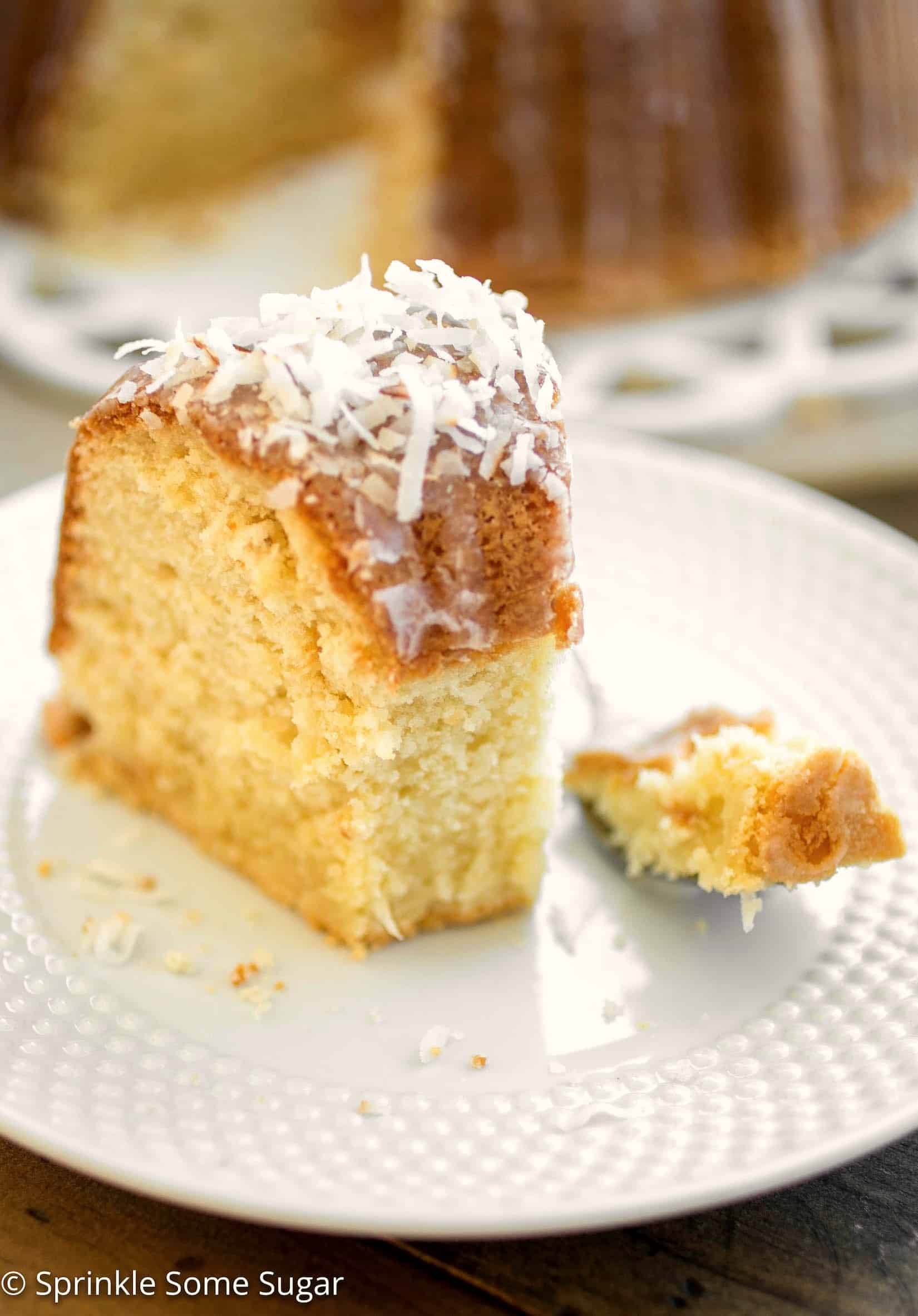 Coconut Pound Cake - This pound cake has the softest, velvet-y texture and is loaded with lots of coconut flavor.