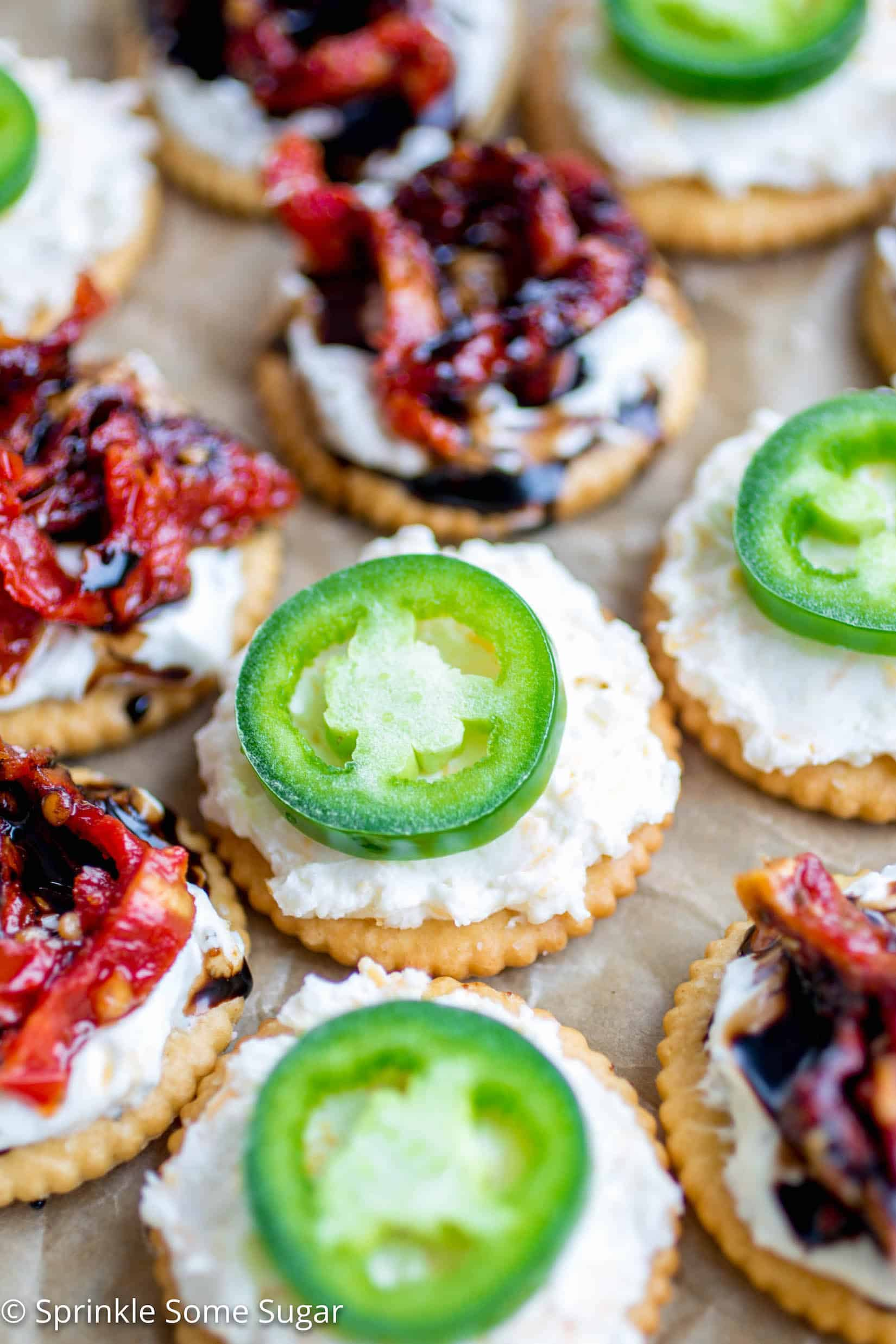 Four Easy Bite-Size Party Recipes - These sweet and savory bite-size recipes using RITZ Crackers, cream cheese and a few other tasty ingredients are going to be the star of your next gathering!