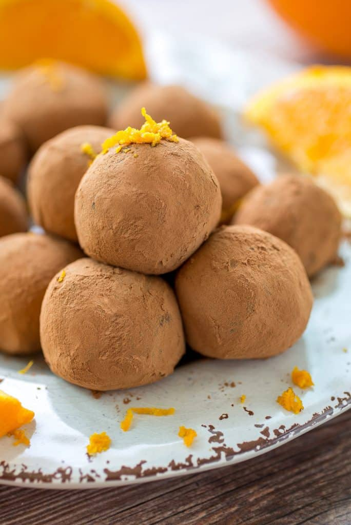 Dark Chocolate Orange Truffles - These orange dark chocolate truffles are super creamy with delicious notes of citrus flavor!